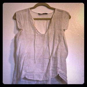 White zara blouse
